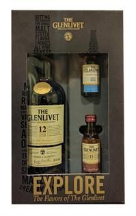 The Glenlivet Scotch Single Malt 12 Year includes 2 50ml...